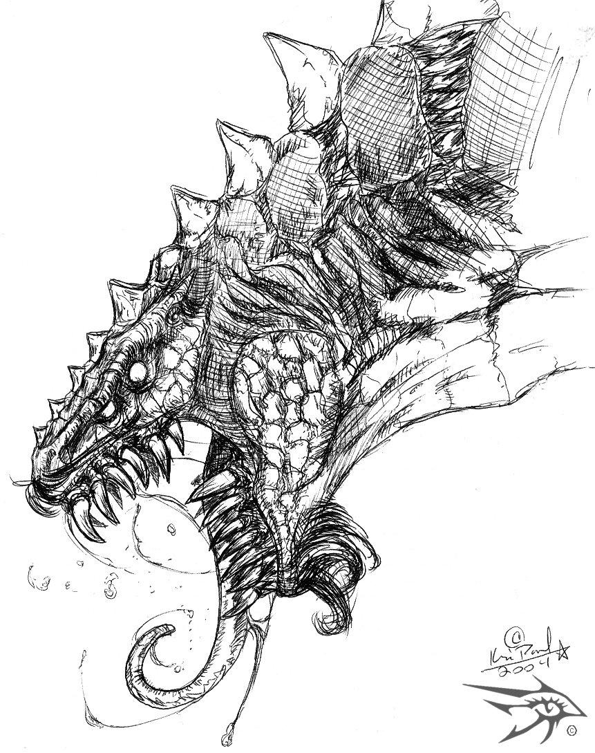 Sketch Series - Dragon 6 by darthhorus