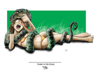 Snake in the Grass by darthhorus