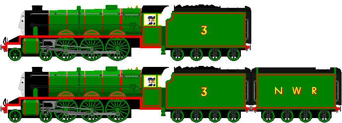 Henry with LNER Corridor tenders