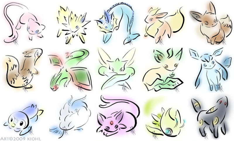 Pokemon Brushpaint by kiohl
