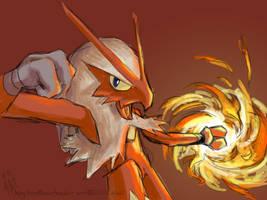 Blaziken's Fire Punch by kiohl