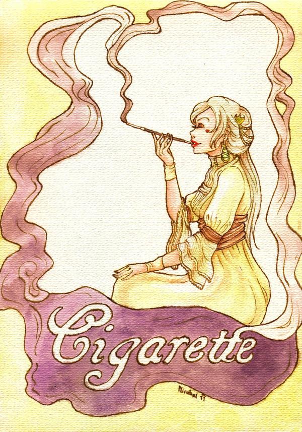 Art Nouveau: Cigarette by Mirabel-chan