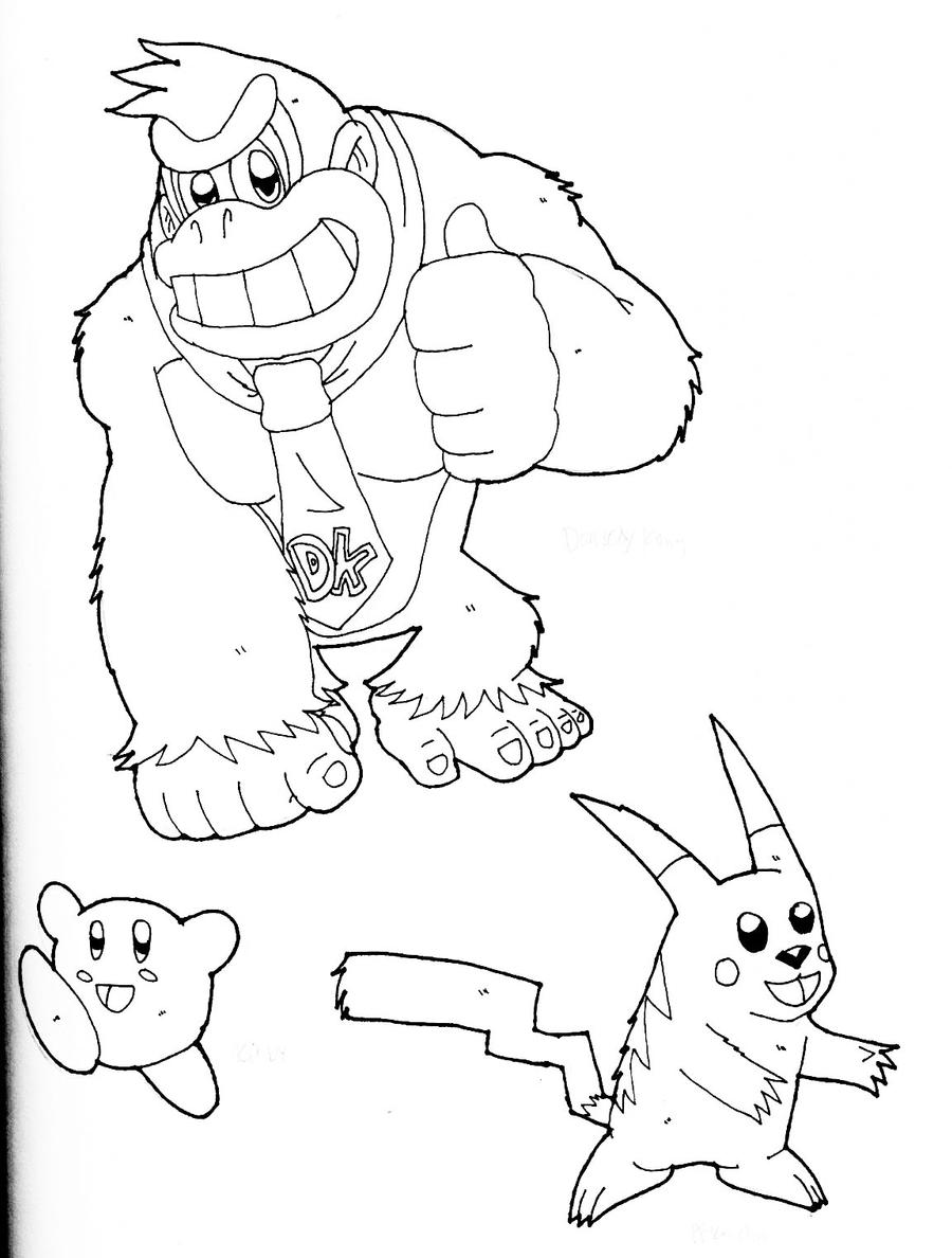 Super Smash Bros Coloring Pages Coloring Pages