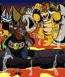 Super DU Bros:Volcanic Panic Battle by ChibiBrugarou