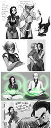 Sketchdump 6:Dragon Age Inquisition by AlexielApril