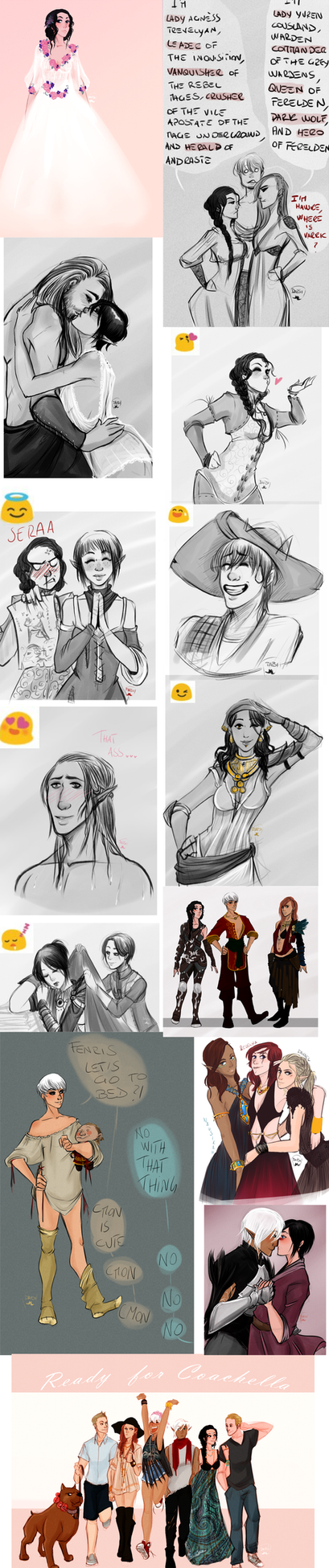 Sketchdump 9: Dragon Age by AlexielApril