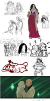 Sketchdump 10: Dragon Age by AlexielApril