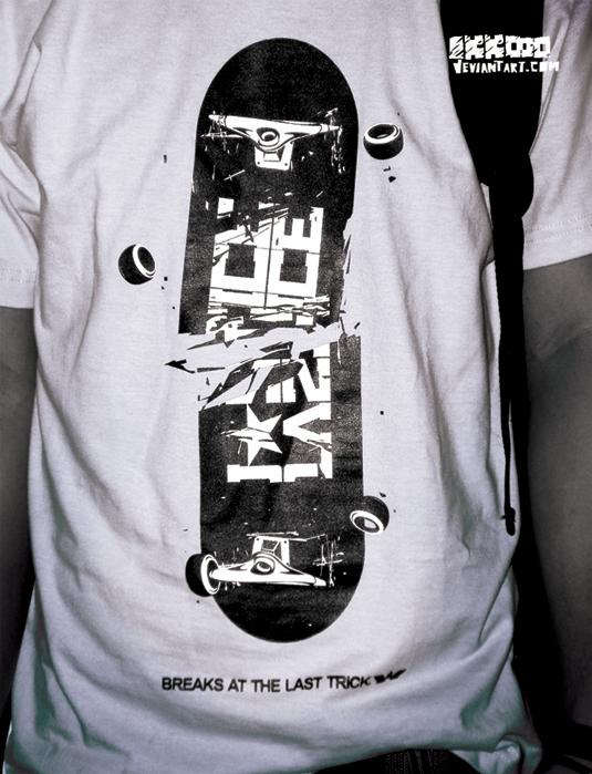 Last trick tshirt by Ikkooo