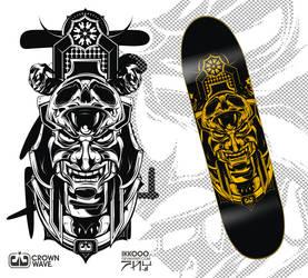 crownwave skate deck by Ikkooo