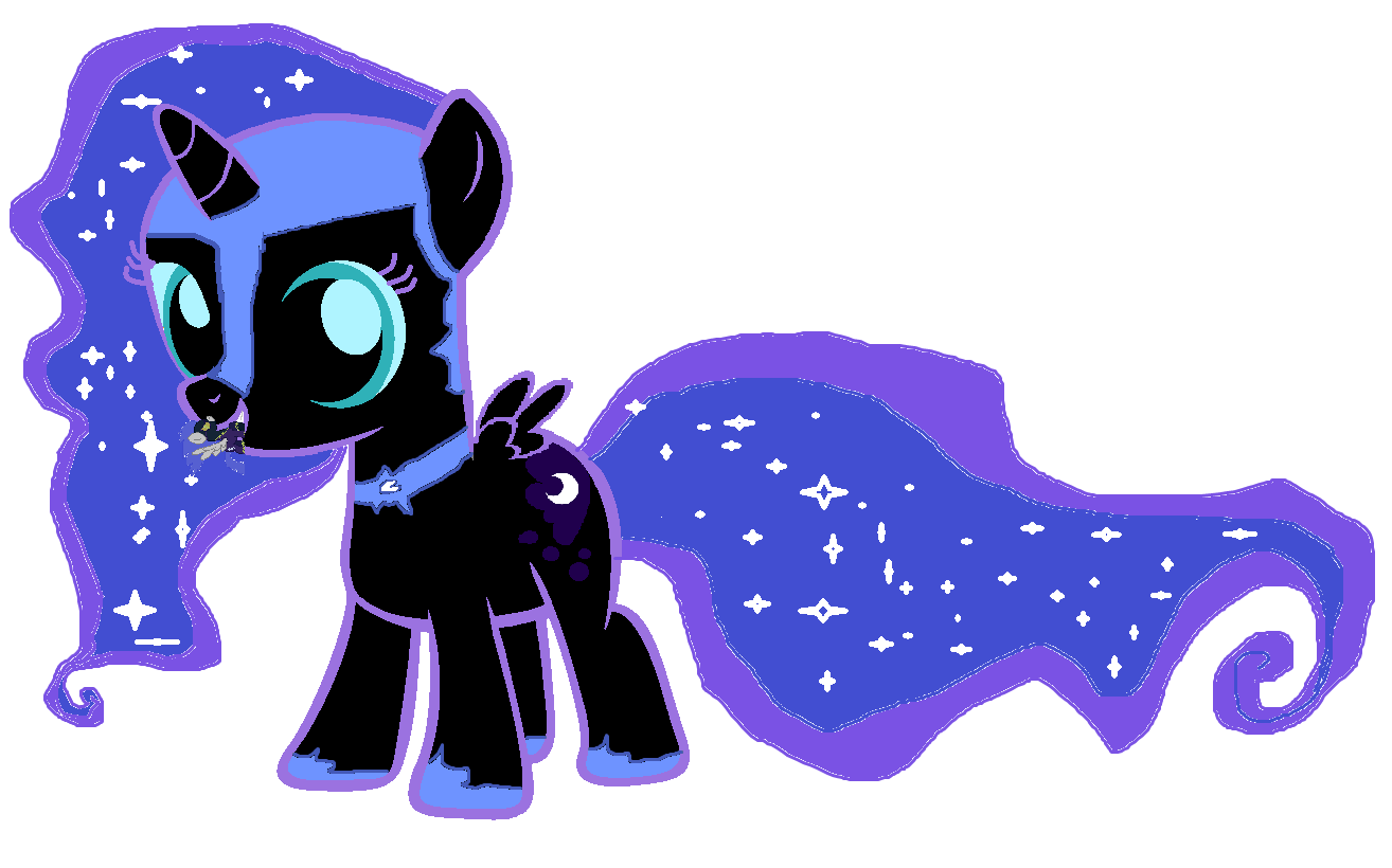 Filly Nightmare Moon by Pikachu1089 on DeviantArt