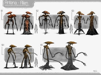 Character concept layouts character studies by wilsonjr