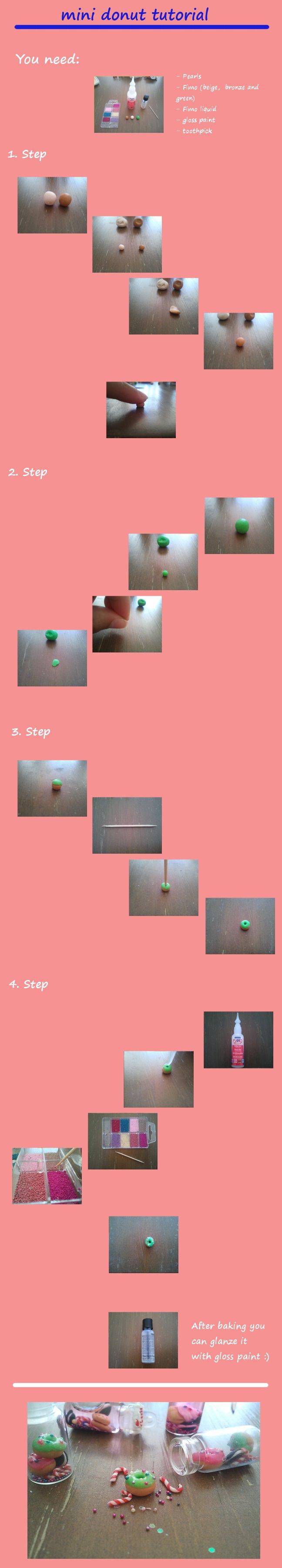 mini donut tutorial by Kittychen226
