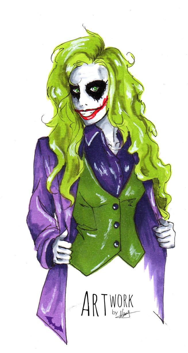 Female Joker by DoICrossYourMind