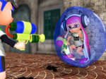 Trapped Inkling Girl in a bubble