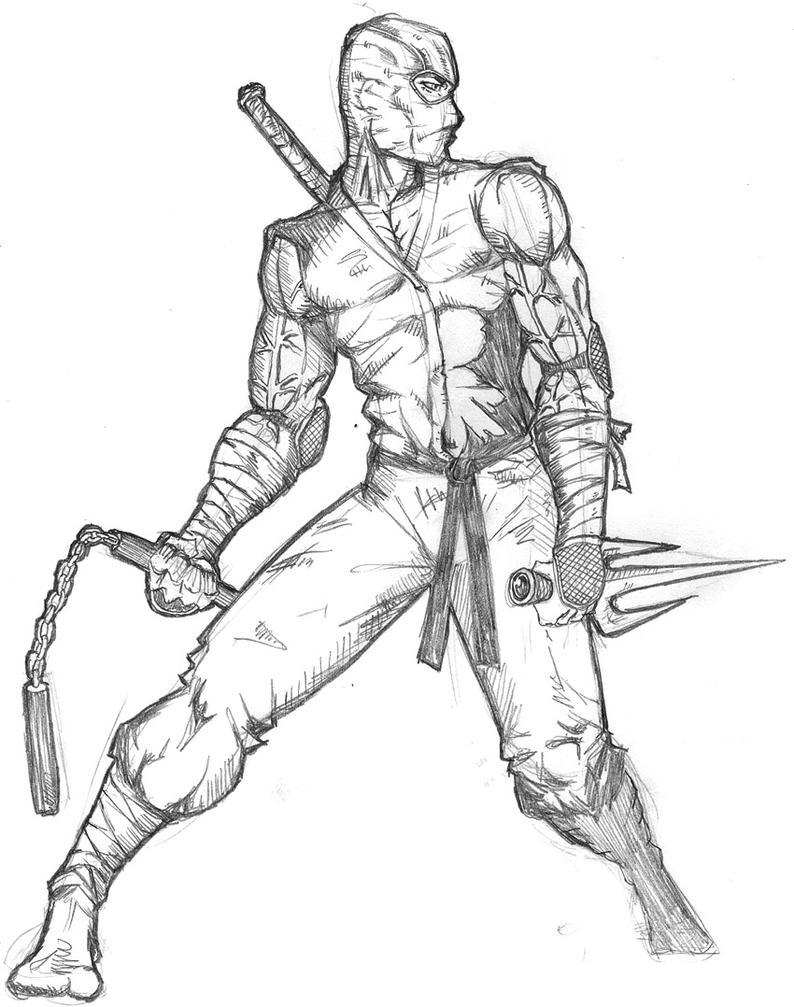 Uncategorized Drawing Ninjas ninja warrior by ntholden on deviantart ntholden