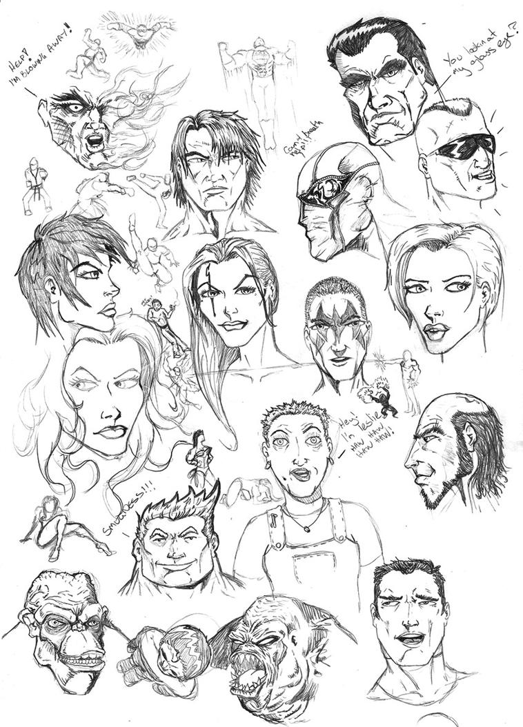 Head Doodles by ntholden