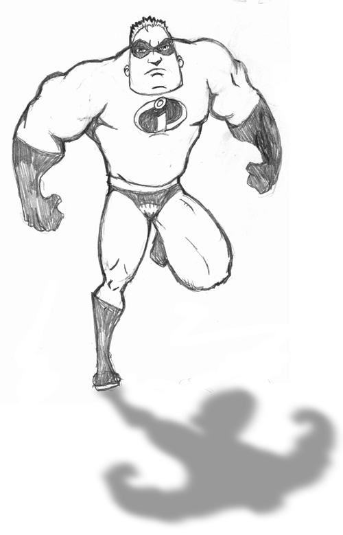 how to draw mr incredible