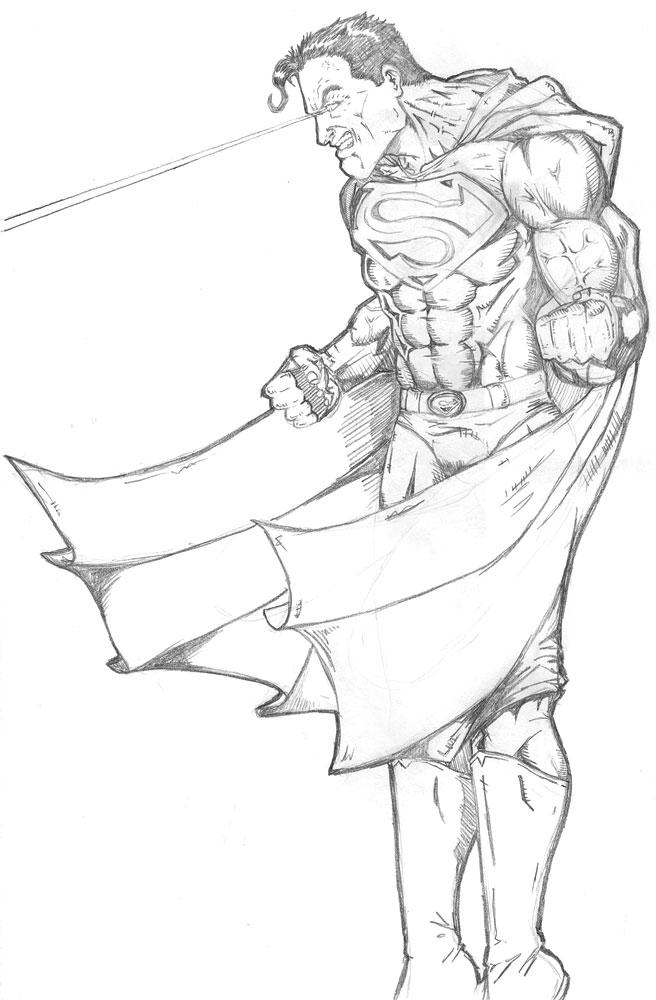 Superman - Pencil sket...