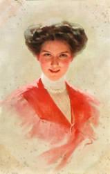 Pink Lady circa 1908 Edwardian era