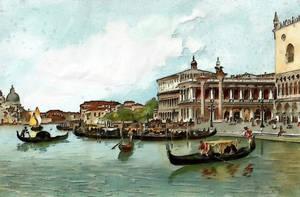 Vintage European Il Molo  Venice Italy  Circa 1909 by vinsky2002