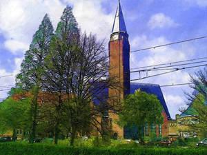 Old Clock Tower at Rotterdam 2005