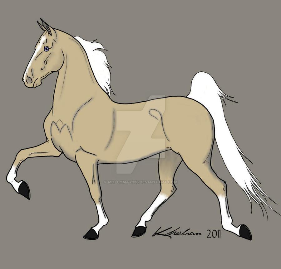 Palomino Saddlebred by MollyMay335