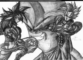 SSJ 4 Goku vs. Babi Vegeta by johnston351