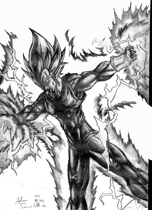 Vegeta's Final Flash by johnston351