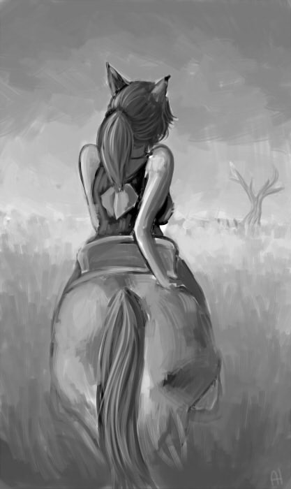 Horseback by TigerDoe
