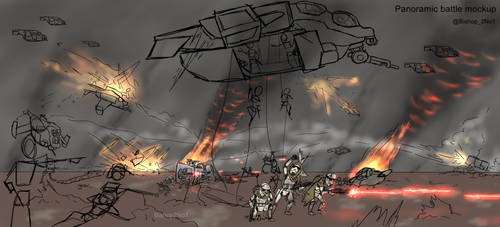 STARWARS - Trench Assault Panorama (Color Test)