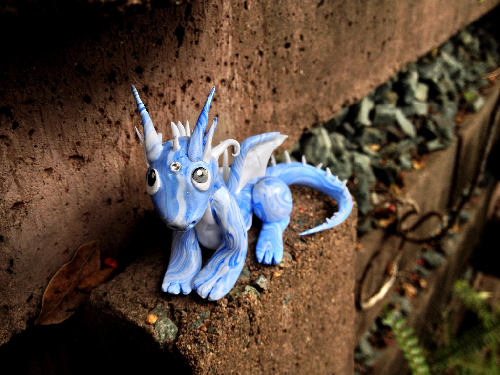 Baby Blue Marble : Baby blue marble dragon by elianan on deviantart