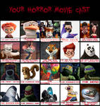 My crossover Horror movie Cast Meme