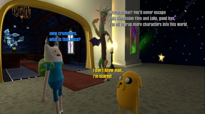 Discord trapped Finn and Jake in a dimension by