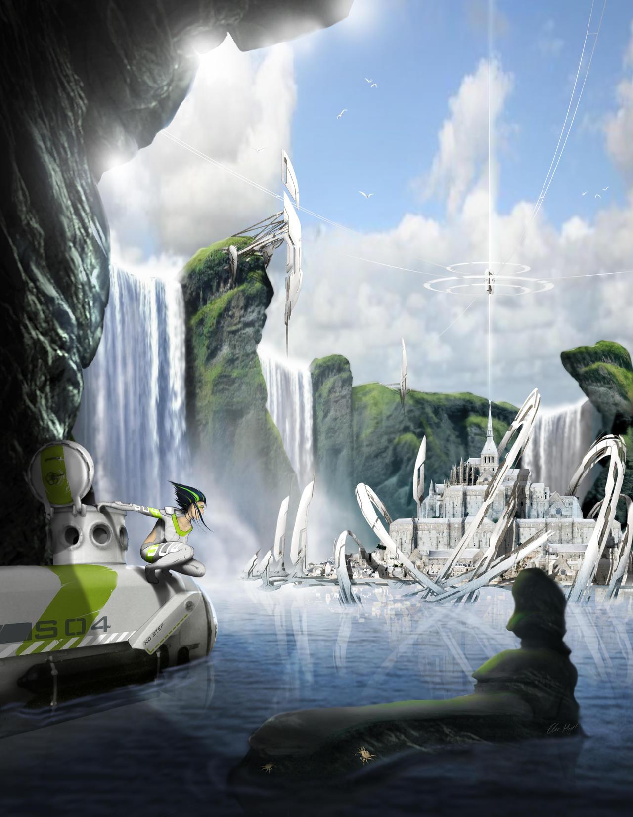 Atlantis sunwhite by MonkeyfroG