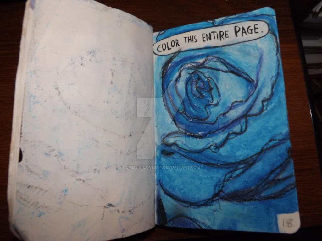 Wreck This Journal Color This Entire Page By Emmettlover94 On