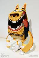 Yellow Dog - Paper Toy by MathieuBeaulieu