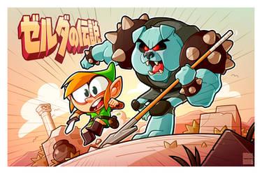 Link vs Moblin by MathieuBeaulieu