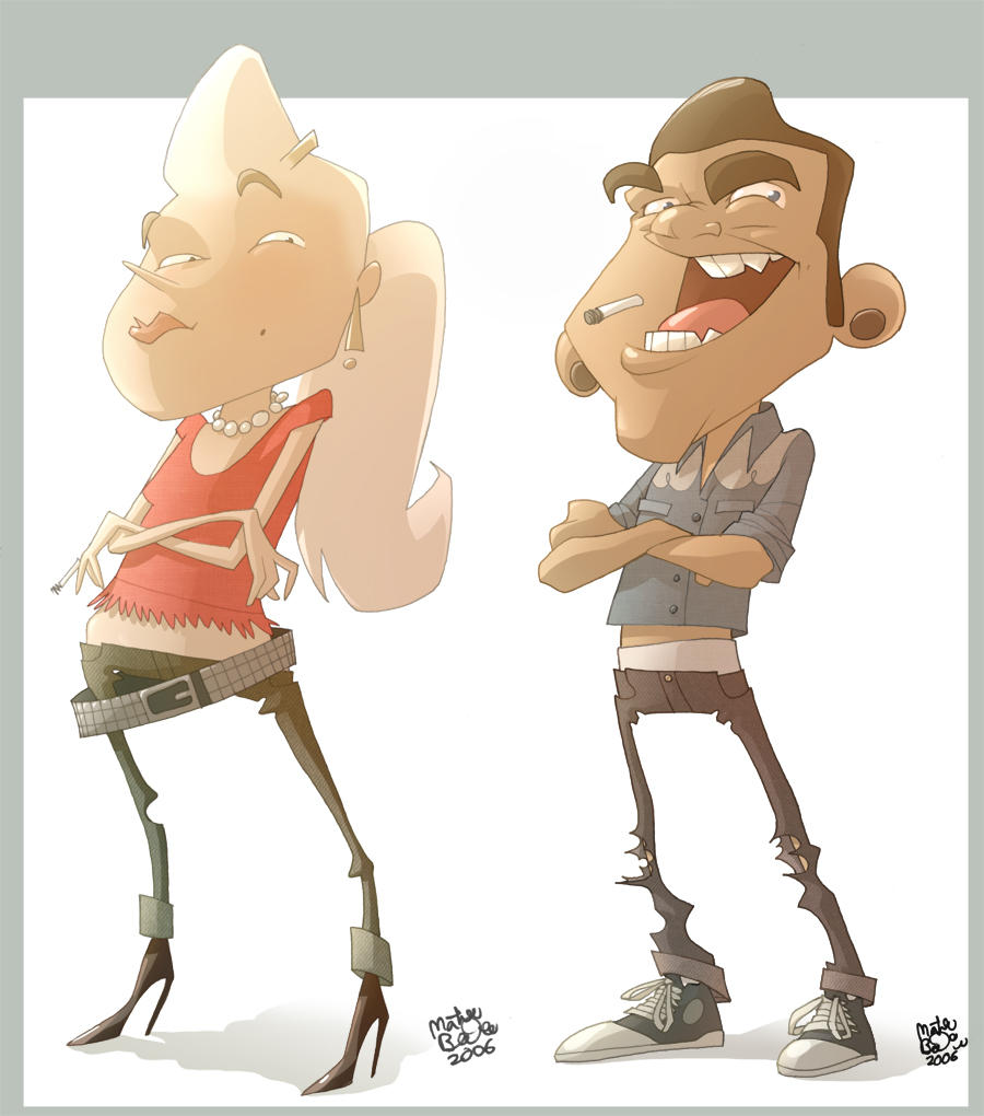 Trashy Rockabilly Couple by MathieuBeaulieu