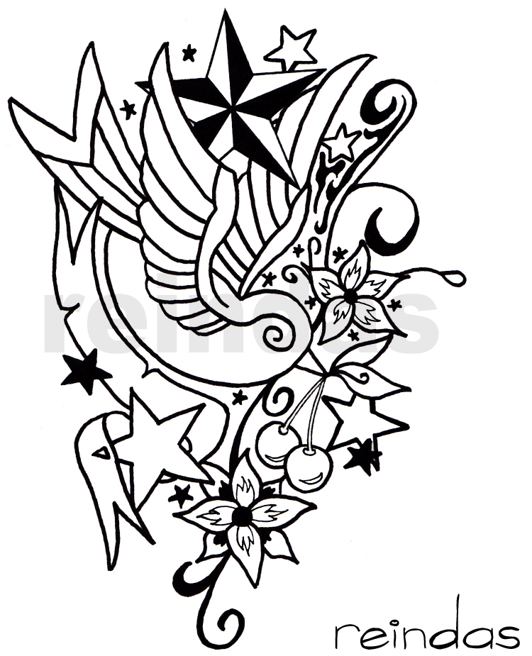 New school tattoo bw by reindas on deviantart for Tattoo school listings