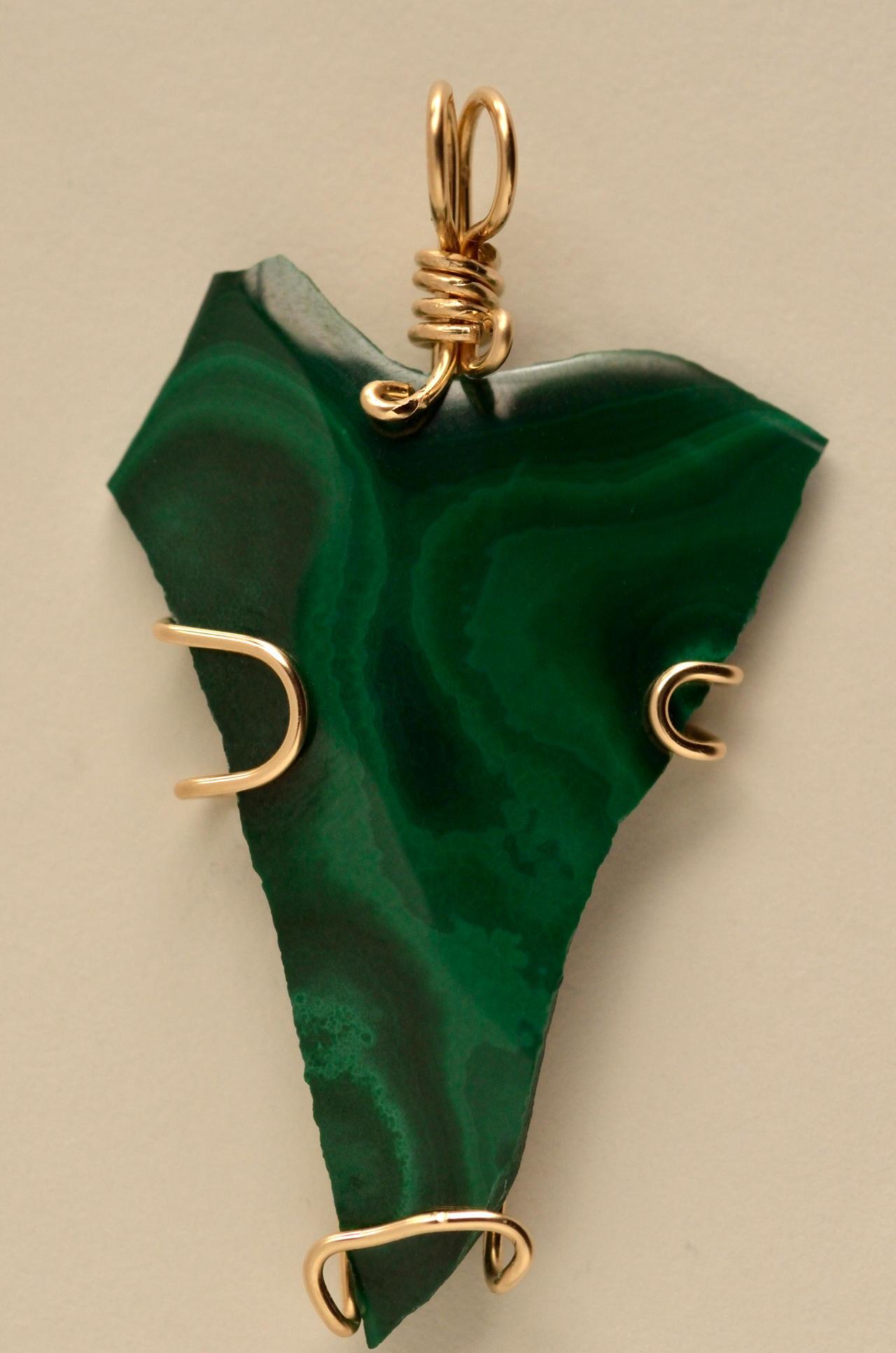 Malachite pendant V by lamorth-the-seeker