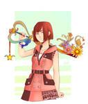 KHIII Kairi with her keyblade Fanart