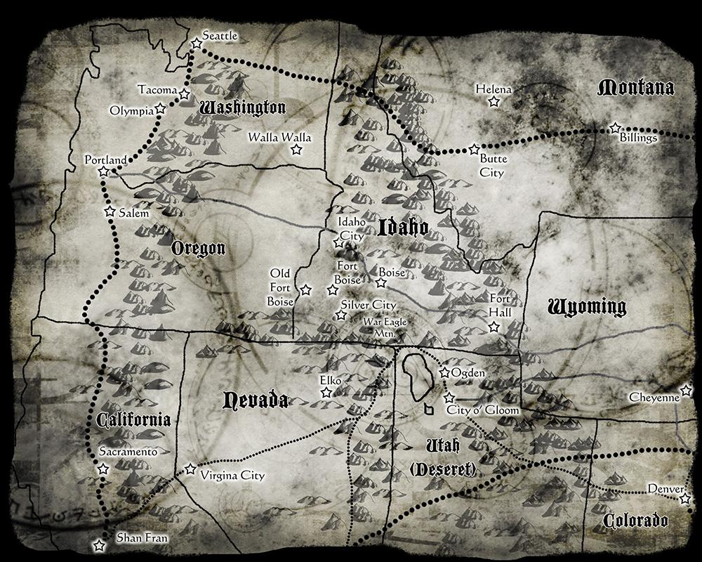 Deadlands California Map.Deadlands Reloaded Regional Map By Sadizzm On Deviantart