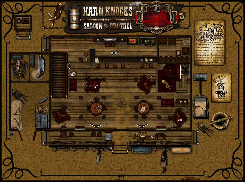 Hard knocks saloon and brothel 1st floor v3 by sadizzm on for Floor 6 reloaded