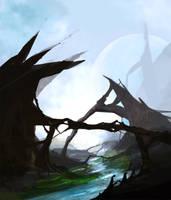 Alien Landscape Speedpaint by inkvenom