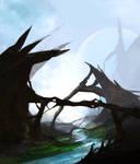Alien Landscape Speedpaint