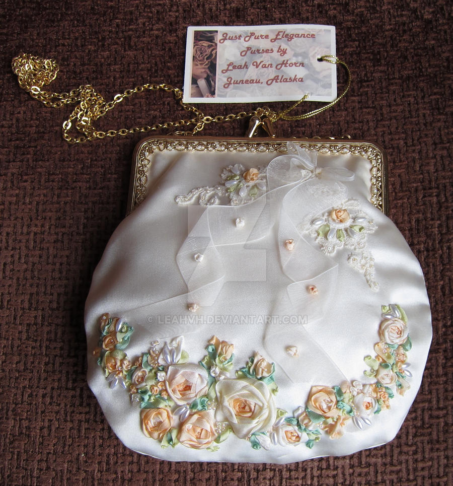 Just  Pure Elegance - Bridal purse by leahvh