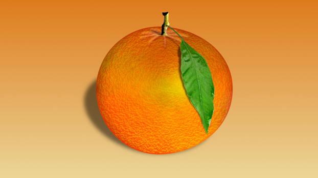 Orange fruit  with tinge green color