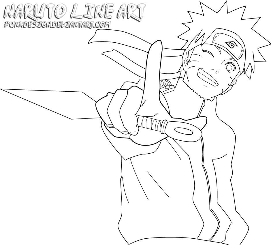 Line Art Photo Cs : Naruto kunai line art by punkgfx on deviantart