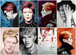 Some of my BOWIE drawings / paintings