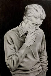 David Bowie In 1975 by art-by-gadi